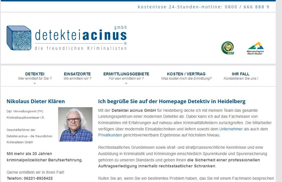 Detektiv in Heidelberg Webseite