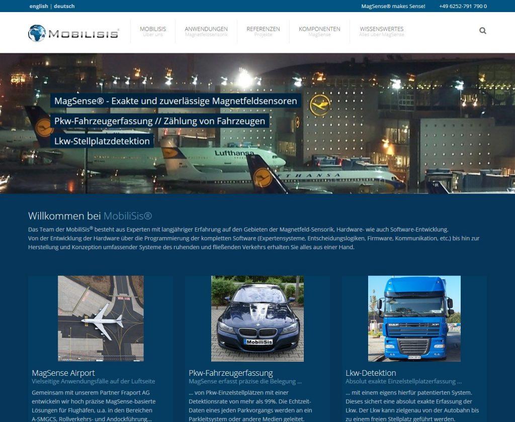 Webseite MobiliSis GmbH, Heppenheim, Startseite