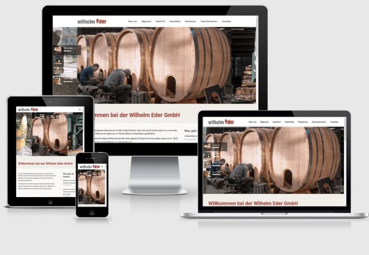 Webseite Wilhelm Eder GmbH